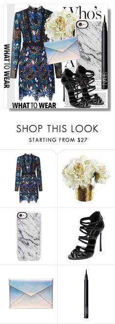 """""""Casetify!"""" by dianagrigoryan ❤ liked on Polyvore featuring self-portrait, Casetify, Casadei, Rebecca Minkoff and NARS Cosmetics"""