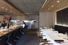 Wooden Contemporary Furniture  Restaurant Decorating Design