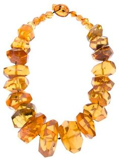 Tier Motis amber necklace