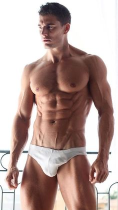 Male Model, Good Looking, Beautiful Man, Guy, Hot, Sexy, Handsome, Eye Candy, Muscle, Hunk, Abs, Sixpack, Shirtless, Undies, Underwear 男性モデル アンダーウェア 下着