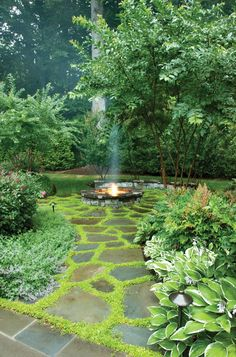 terrace garden Adjacent to a more formal terraced garden sits a casual yet luxurious lounging area with a fire feature. Backyard Retreat, Backyard Patio, Fire Pit Backyard, Backyard Landscaping, Terrace Garden, Garden Paths, Edinburgh, Garden Images, Outdoor Fire