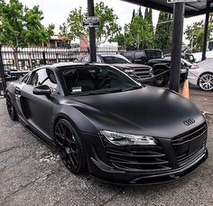 Audi matte black R8