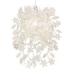 Mooie hanglamp Lief en Klein hanglamp bloemen wit voor de babykamer of kinderkamer. De lamp is gemaakt van kunststof en dus goed schoon te maken.