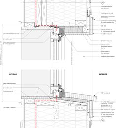 Windows and Doors « Cottonwood Passive House, wood frame head and sill details . Windows and Doors Window Detail, Door Detail, Construction Drawings, Wood Construction, Timber Windows, Windows And Doors, Architecture Design, Timber Structure, Timber Cladding