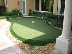Practice Golf Putting Skills In Your Backyard Anytime On Artificial Turf  Putting Green. This Is