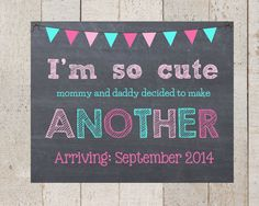 I'm So Cute Mommy and Daddy decided to make another - Pregnancy Announcement- I'm being promoted to -bis sister- big brother-pegnancy