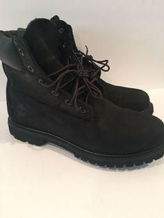 a57294be7 Timberland Men s Boot 6 Inch Classic Premium 10061 Black Nubuck Mens Size 9   fashion