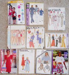 Patterns Childs New Look McCalls Simplicity Mens Womens 6 8 XS Lot 10 Dress  #McCallsSimplicity