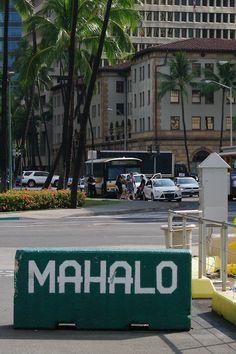 Traffic on Hotel Street, downtown Honolulu