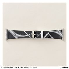 Modern Black and White Art Apple Watch Band