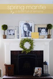 Spring mantle.. Wouldn't do it in shabby chic.. But love the styling.