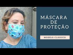 (88) Como fazer uma máscara de proteção modelo clássico - YouTube Easy Face Masks, Best Face Mask, Diy Face Mask, Sewing Clothes, Diy Clothes, Sewing Tutorials, Sewing Patterns, Mouth Mask Fashion, Crochet Mask