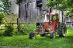 Great old barn and tractor.