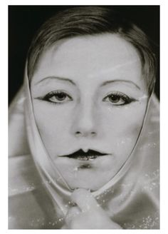 Untitled (self portrait in hommage to Claude Cahun) byCindy Sherman, 1975