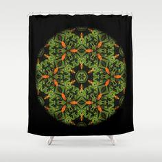 Orange Dalia Mandala #1832 Shower Curtain by Celeste Sheffey of Khoncepts - $68.00   #homedecor  #bathroomaccessory