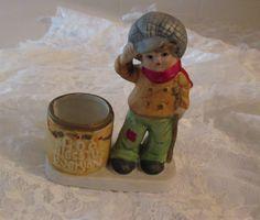 Vintage Dickens Tiny Tim Figurine and Tea Light by RitasGarden, $9.95