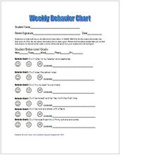 Free Behavior Chart - Re-pinned by @PediaStaff – Please Visit http://ht.ly/63sNt for all our pediatric therapy pins