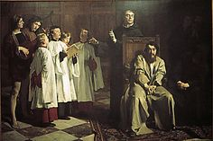 """Emile Wauters: """"The painter Hugo van der Goes at the Red-cloister convent"""", oil on canvas, Dimensions: 186 x Royal Museums of Fine Arts of Belgium. August Sander, Albert Bierstadt, My Search History, Pandora Stations, Hans Memling, Austin Osman Spare, Jan Van Eyck, Camille Claudel, Letters"""