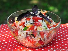 Rice salad with vegetables!