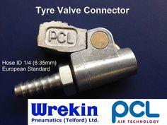 PCL AIR TYRE VALVE CONNECTOR CO2H03 OPEN END CLIP-ON (European Standard)   eBay