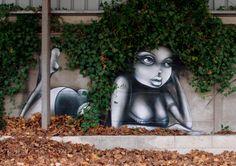 """""""Vinie Nature"""" ~ Street art by Vinie Réa."""