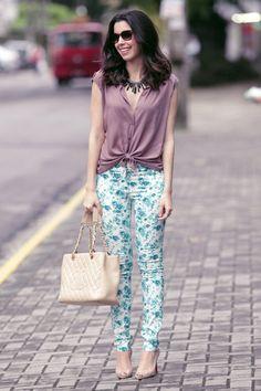 Camila Coutinho-Calça Floral