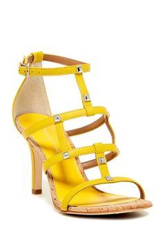 Summer pick: Bright studded heels.