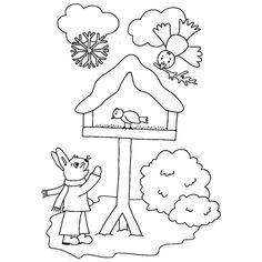 Zima a Vánoce - Předškoláci - omalovánky, pracovní listy » Předškoláci - omalovánky, pracovní listy