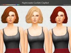 Kot Cat: Nightcrawler Confetti Hair Clayified  - Sims 4 Hairs - http://sims4hairs.com/kot-cat-nightcrawler-confetti-hair-clayified/