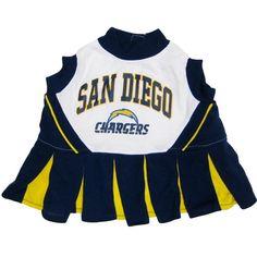 San Diego Chargers NFL Cheerleader Dog Dress