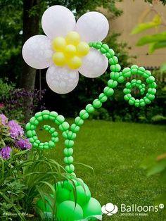Flor hecha con globos   -   Balloons flower