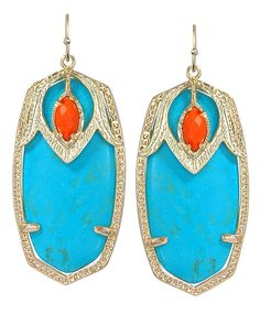 Darby Earrings in Turquoise - Kendra Scott Jewelry