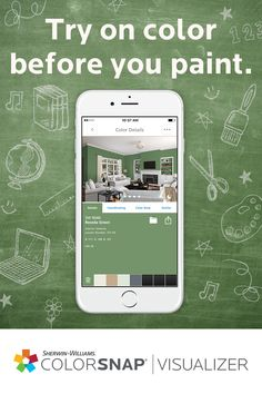 Back to school for them means back to DIY for you. ColorSnap® Visualizer for iPhone & Android lets you see paint on walls in the palm of your hand.