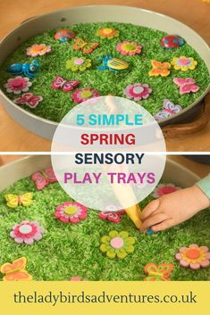 Do you want to set up engaging seasonal activities for young children? Here are 5 simple spring sensory bins. Sensory Bins, Sensory Activities, Sensory Play, Infant Activities, Activities For Kids, Nursery Activities, Creative Activities, Indoor Activities, Toddler Preschool