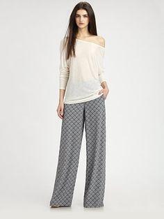 Vince print pajama pants