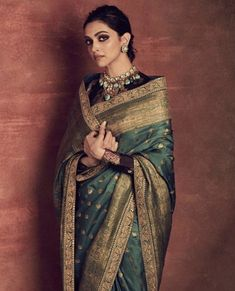 Deepika Padukone Stuns In A Gorgeous Sabyasachi Saree As She Heads Out For Chhapaak Promotions - HungryBoo Indian Bridal Outfits, Indian Bridal Fashion, Indian Designer Outfits, Bollywood Heroine Photo, Bollywood Actress, Sabyasachi Sarees, Deepika Padukone Style, Saree Draping Styles, Modern Saree
