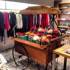 Nosso carrinho de flores fez sucesso aqui no evento de lançamento da coleção Alto Inverno 2014. #fillity #altoinverno2014 #altoinvernofillity