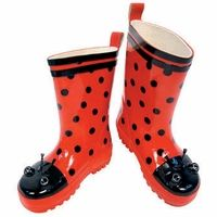 Kidorable Ladybug My First Rain Boots