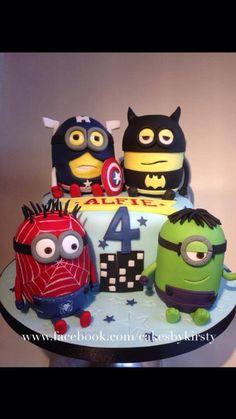 Marvelous Avengers Minions Mashup Cake Minion cakes Studio and Cake