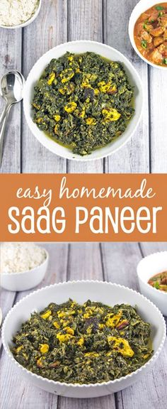Saag Panner: Make your own Indian food at home with this easy saag paneer recipe, plus substitutions if you have difficulties finding paneer. {Bunsen Burner Bakery}