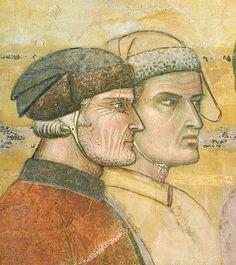 Ambrogio Lorenzetti - Due Cittadini  (Allegoria del Buon Governo) - affresco - 1338-1339 - Siena - Palazzo Pubblico, Sala dei Nove o Sala della Pace