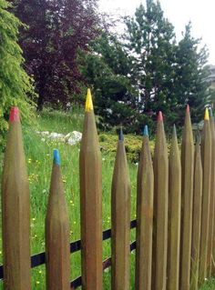 Pencil post fence