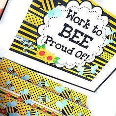 BEE Freebie Behavior Coupons, Ideas, and Classroom Decor Pack - FlapJack Preschool Classroom Themes, Owl Theme Classroom, Classroom Decor Themes, Classroom Ideas, Classroom Teacher, Kindergarten Classroom, Bee Bulletin Boards, Class Board Decoration, Classroom Newsletter