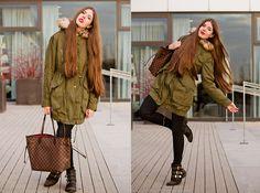 Asos Parka, Louis Vuitton Big Bag, Lulus Boots With Spikes | Parka is love <3 (by Frau Eismann) | LOOKBOOK.nu