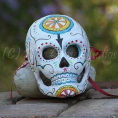 Dia De Los Muertos mask decoration by BlueGooseStudios on Etsy, $25.00