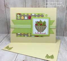Stamps-N-Lingers.  Gotta love the new Tutti Frutti Notecards and Envelopes - which you can get for FREE during Sale-A-Bration!  This card was build on them with the Fruit Basket stamp set and Itty Bitty Fruit Punch Pack!  For free instructions on how to make this card, and to learn how to get them for free yourself, please visit my blog at:  https://stampsnlingers.com/2018/01/13/stampin-up-tutti-frutti-basket-of-pears-valentine/