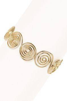 Golden Rupika Cuff Bracelet
