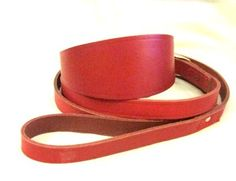 Red Leather and Collar Set