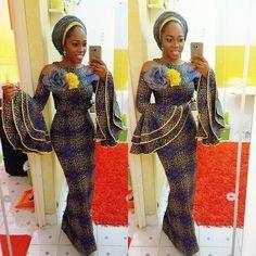 Sweetest Ankara Gown Styles in Nigeria 2017-2018