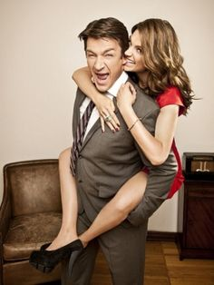 Castle, Nathan Fillion, Stana Katic  i LOVE these two :)   castle = favorite show!
